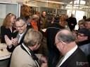 Schon Mittags um 11 Uhr feierten die zahlreichen Gäste in Brackenheims ehrwürdiger Weininfothek.