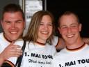 Brackenheimer Weinfrühling: ...das EM-T-Shirt zur 1.Mai Tour übergestreift...
