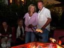 Grill und Chill in Willsbach: Lagerfeuerromantik kam beim Stockbrot-Backen auf.