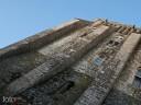 Bretagne, Mont St. Michel: Hinter steilsten Wänden verbirgt sich die Klosterkirche.